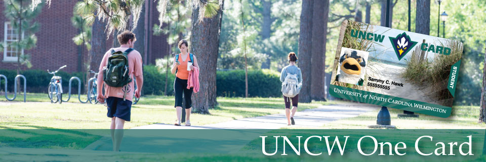 Students walking on campus - One Card image