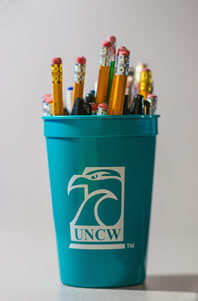 UNCW Testing Center Writing Utensils