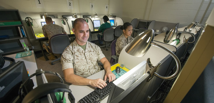 UNCW Testing Center Camp Lejeune Base UNCW Onslow Extention Site