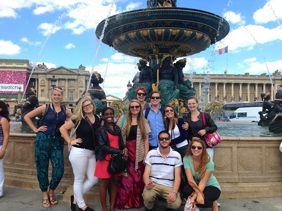 UNCW Students Place de la Concorde Paris, France
