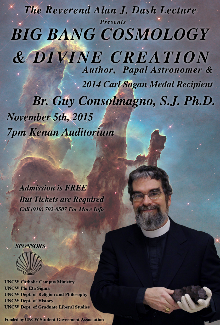 Poster for Guy Consolmagno Lecture on November 5, 7:00 PM