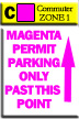 Commuter Parking Zone 1 - Magenta