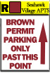 Resident Zone - Permit Color Brown