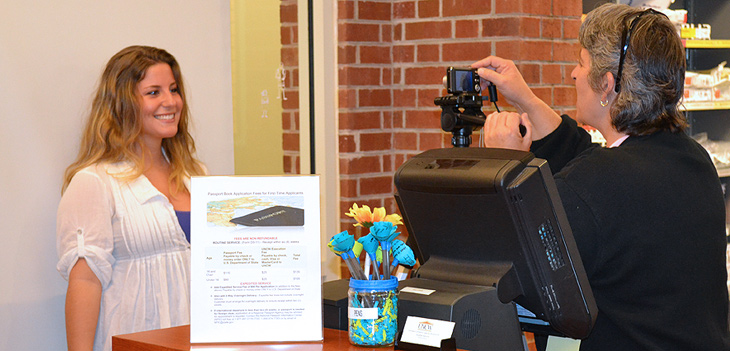 Get your passport photo taken at UNCW Passport Acceptance Facility