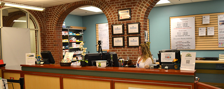 Front desk of the Passport Office, located in the Fisher University Union