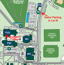 Location of Passport Office on UNCW campus
