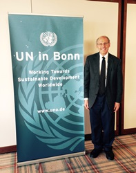 Dr.Brudney at the UN Headquarters in Bonn, Germany
