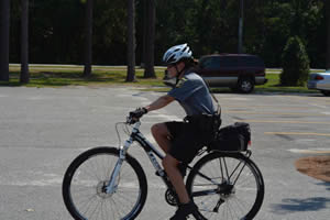 Officer Roberts on bike patrol
