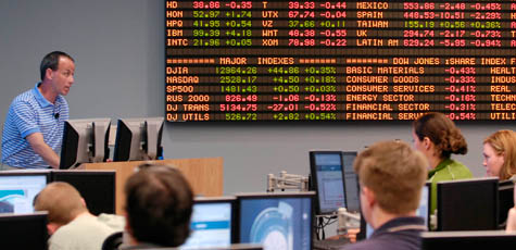 Students in Trading Room