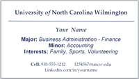 Business card template - navy horizontal rule