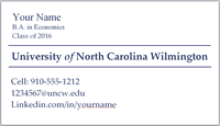 Forms To Get Your Print Jobs Completed Printing Services UNCW - Student business cards templates