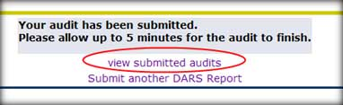 View submitted audits