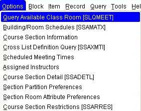 SSASECT - Query Available Class Room (SQLMEET)