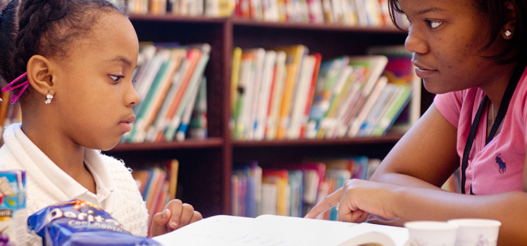 Hillcrest Reading Program tutoring children