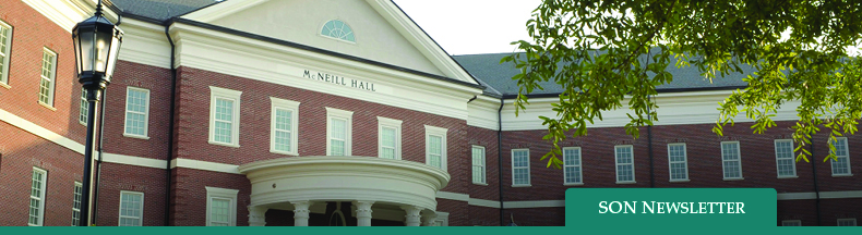 School of Nursing Newsletter - image of McNeill Hall