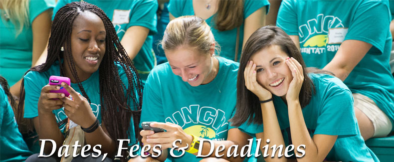 Freshman Dates Fees and Deadlines Header