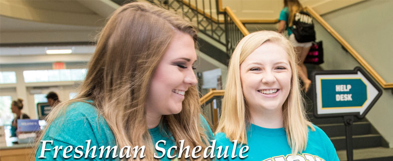 Freshman Schedule Header