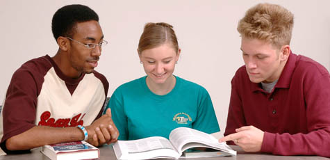 Students with Textbook