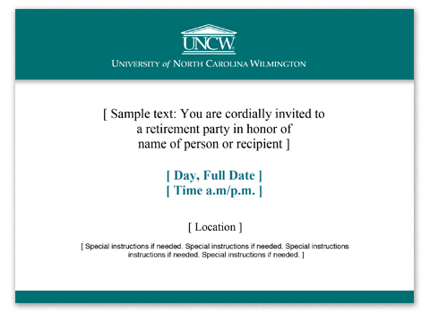invitation template with teal bar at top and bottom