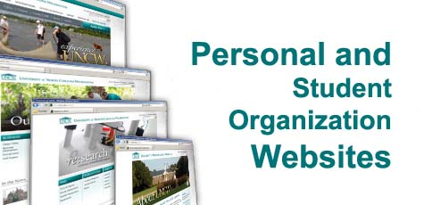 <h1>Personal and student organization sites </h1>header with cascade of web pages
